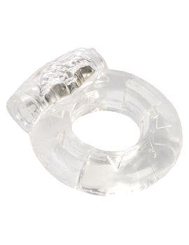 Толстое прозрачное эрекционное кольцо с вибратором