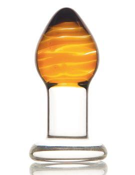 Стеклянная анальная пробка-стимулятор - 8,5 см.