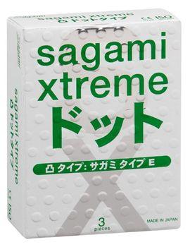 Презервативы Sagami Xtreme SUPER DOTS с точками - 3 шт.
