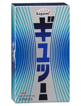 Презервативы Sagami 6 FIT V с волнообразной текстурой - 12 шт.