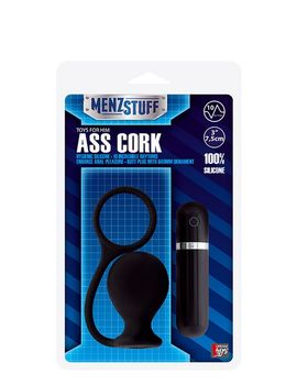 Анальная вибровтулка MENZSTUFF ASS CORK WIDE - 7,5 см.