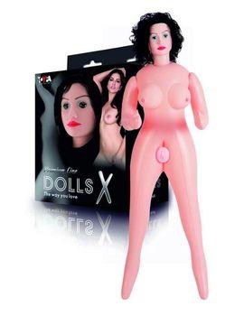 Надувная секс-кукла с реалистичным личиком и подвижными глазами