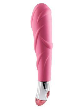 Розовый вибратор Lovely Vibes Laced - 18,5 см.