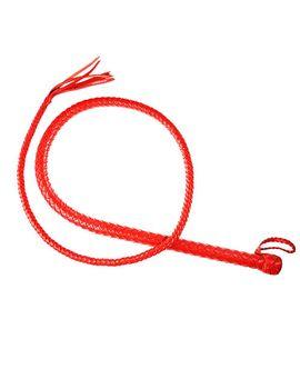 Красный кожаный кнут - 130 см.