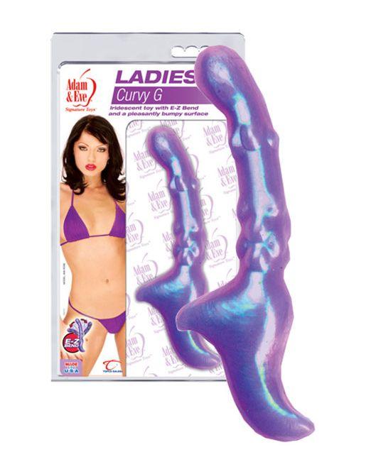 Фиолетовый стимулятор точки G - 21 см.
