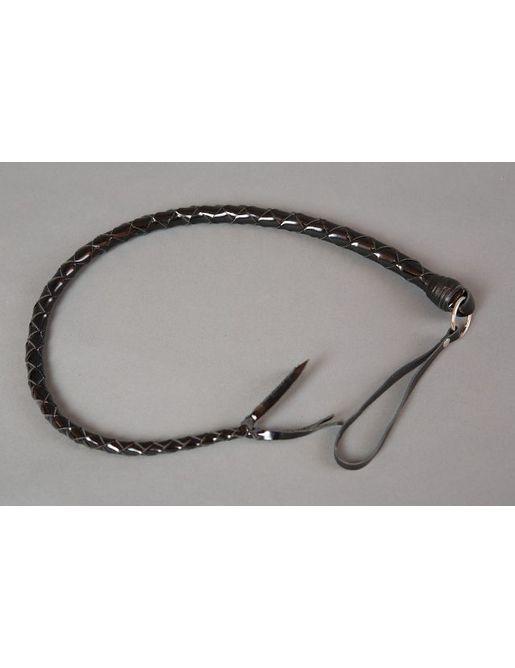 Черная лаковая однохвостая плеть - 100 см.