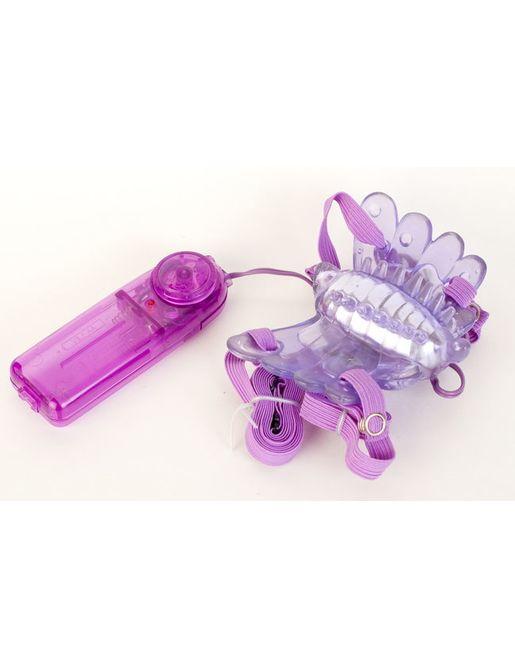 Фиолетовый клиторальный стимулятор Sex Butterfly