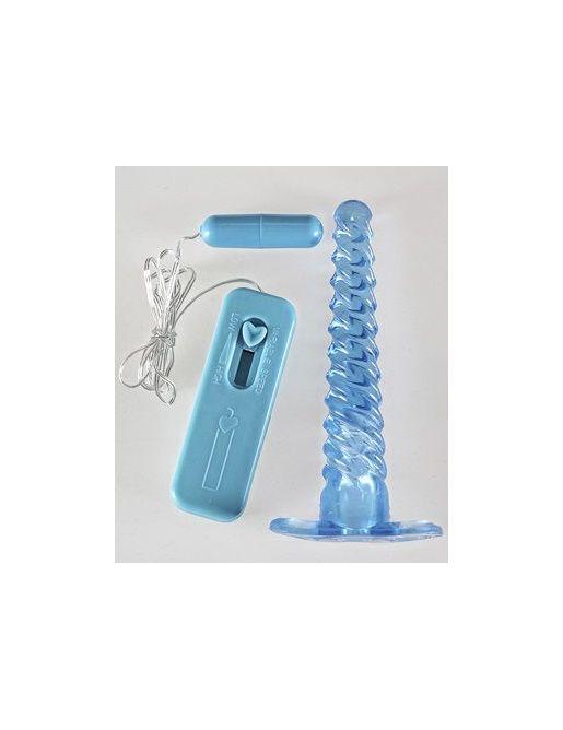 Спиралевидный анальный массажер с вибрацией - 16 см.