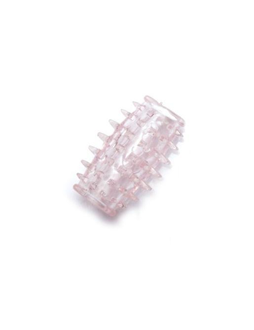 Прозрачная насадка на фаллос с усиками для стимуляции