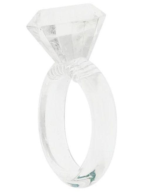 Эрекционное кольцо в виде колечка SILICON DIAMOND COCKRING