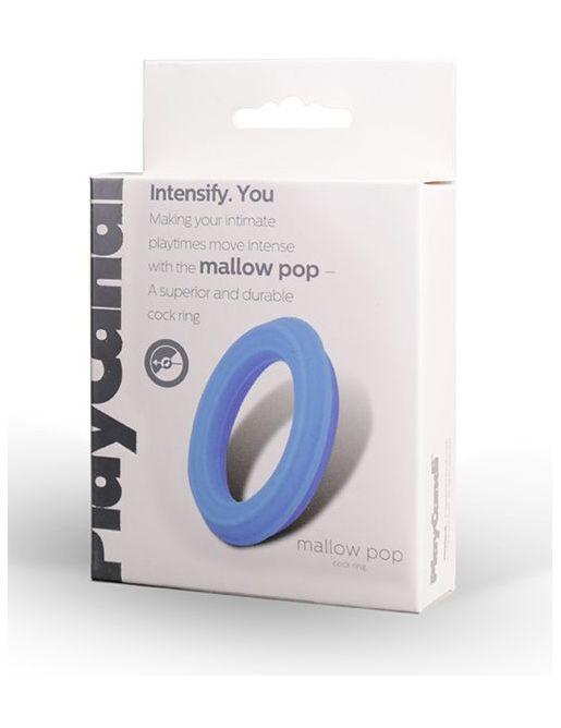 Гладкое эрекционное кольцо голубого цвета Mallow Pop