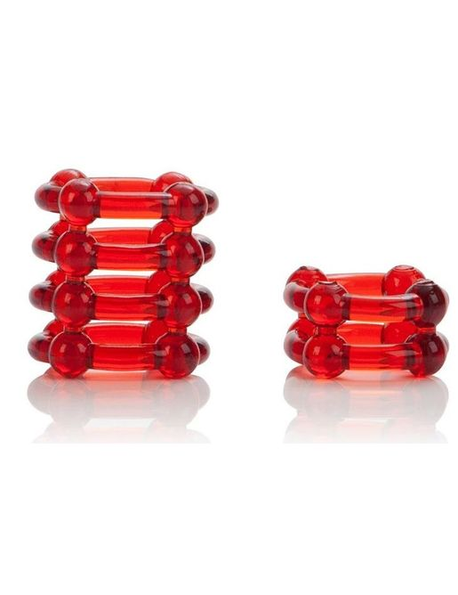 Набор из двух красных эрекционных колец COLT Enhancer Rings
