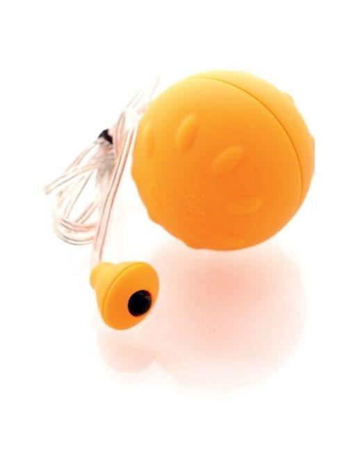 Оранжевый виброшарик с выносным пультом-кнопкой