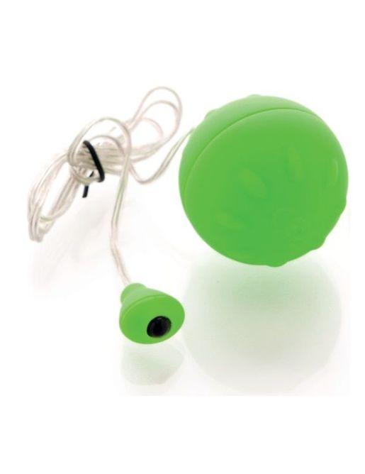 Зеленый виброшарик с выносным пультом-кнопкой
