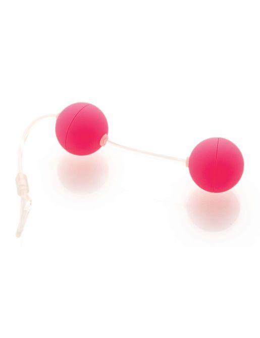Розовые вагинальные шарики на прозрачной сцепке