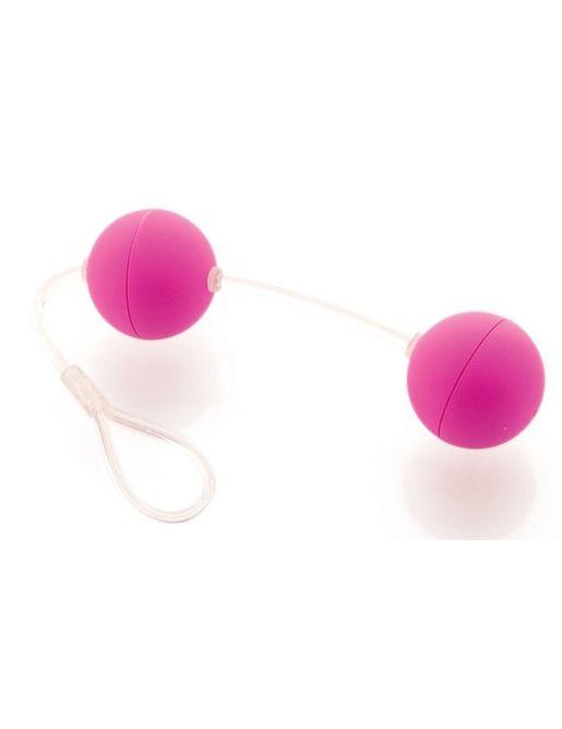 Фиолетовые вагинальные шарики на прозрачной сцепке