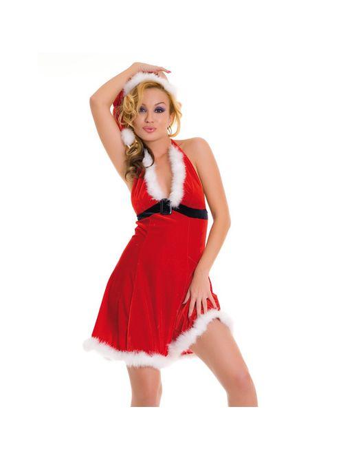 Новогоднее платье и шапочка в тон