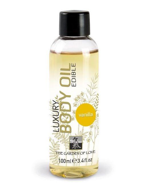 Съедобное массажное масло с ароматом ванили - 100 мл.