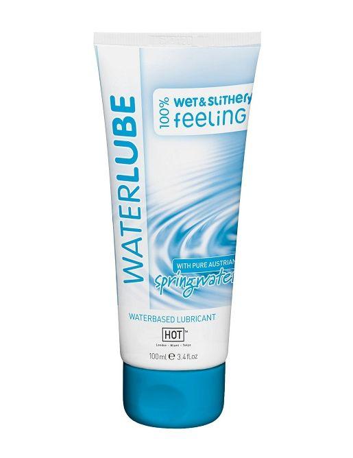 Лубрикант на основе чистой родниковой воды WaterLube - 100 мл.
