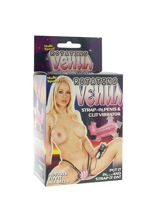 Бабочка для клитора с вращающейся вагинальной головкой