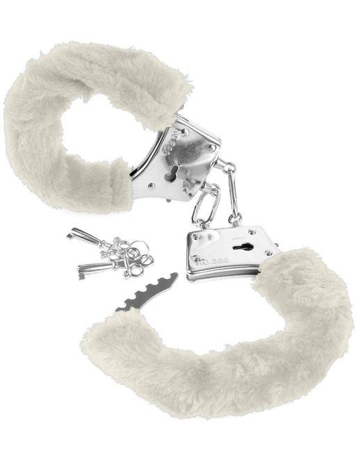 Меховые белые наручники Beginner s Furry Cuffs