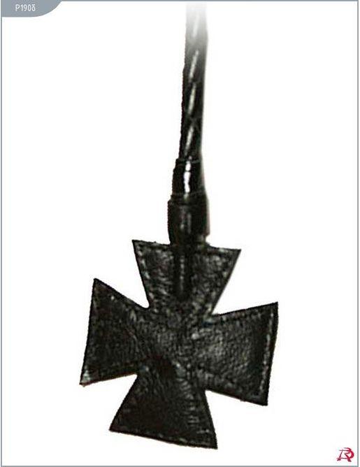 Стек витой с наконечником-крестом - 85 см.