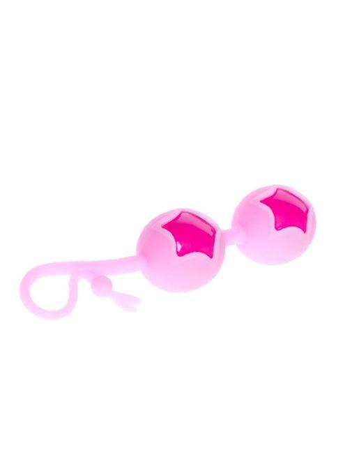Розовые вагинальные шарики из силикона