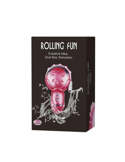 Имитатор орального секса с гнущимся анальным стимулятором Rolling Fun