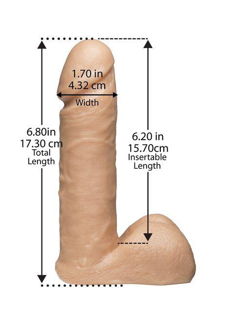 Насадка с трусиками Vac-U-Lock Set 7  Realistic Ultra Harness - 17,3 см.