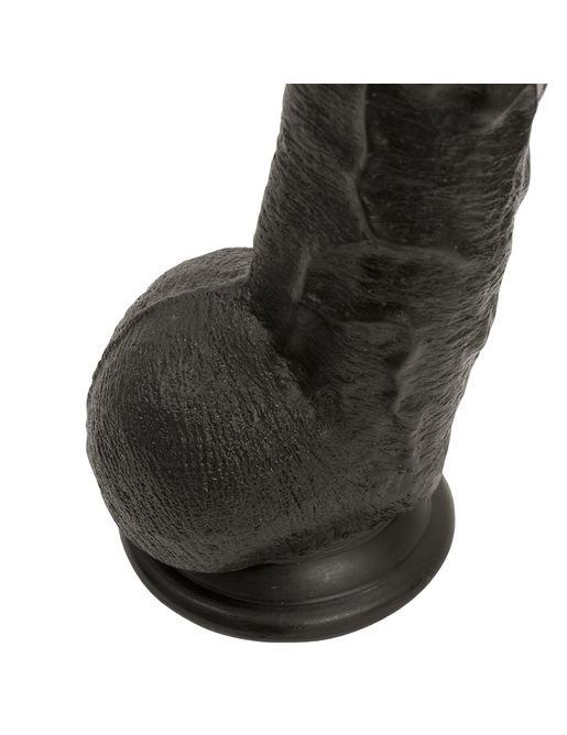 Черный длинный фаллоимитатор с мошонкой Dick Rambone Cock - 42,4 см.