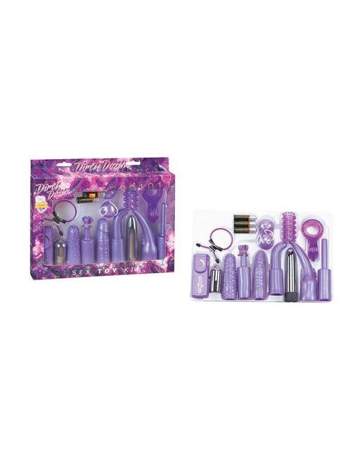 Фиолетовый набор для анально-вагинальной стимуляции