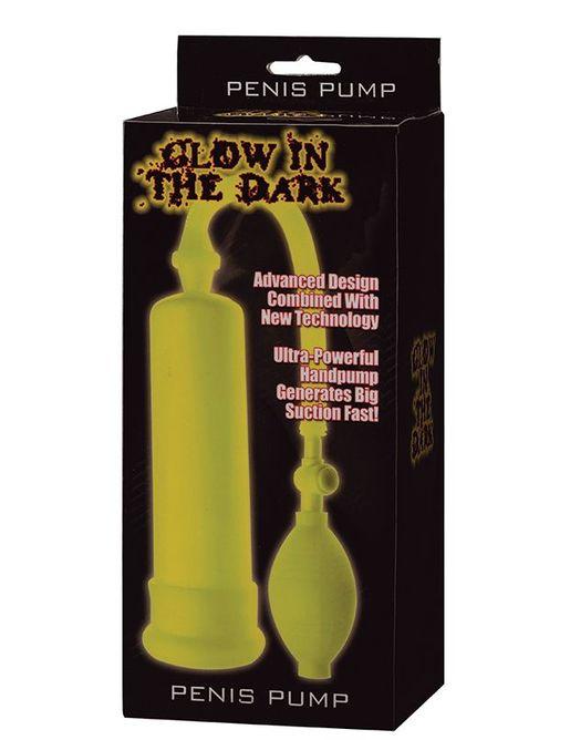 Светящаяся в темноте помпа GLOW IN THE DARK PENIS PUMP