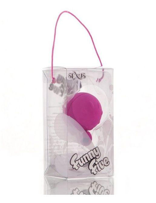 Фиолетовый виброшарик с выносным пультом-кнопкой