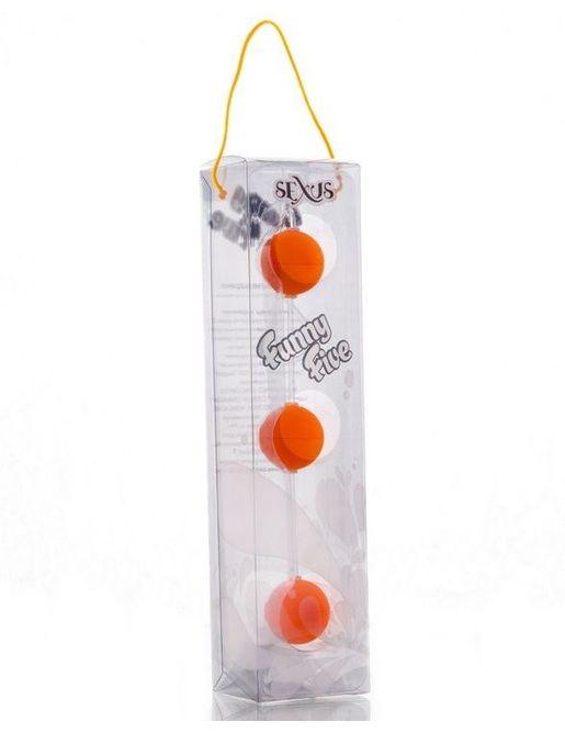 Анальная цепочка из 3 оранжевых шариков