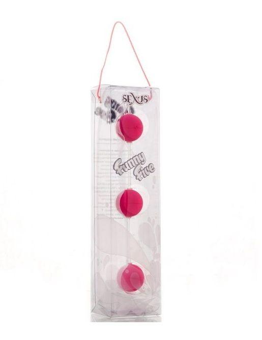 Анальная цепочка из 3 розовых шариков