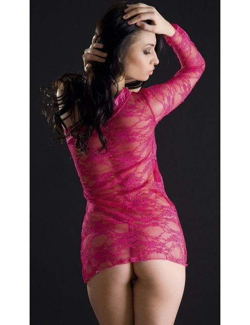 Кружевное платье с одним рукавом