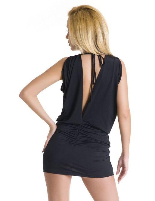 Эффектное эротическое платье с драпировкой