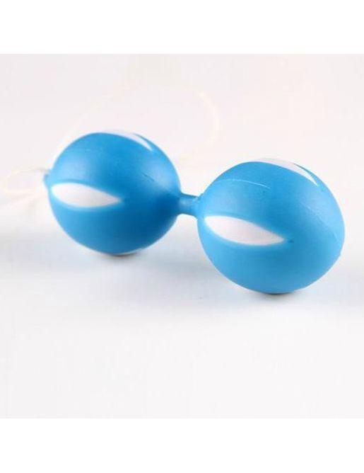Голубые вагинальные шарики SMART BALLS в блистере - 3 см.