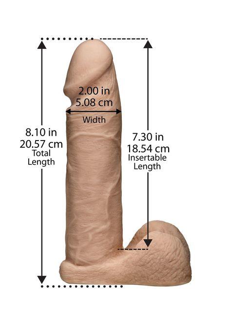 Ультрареалистичная насадка для трусиков Vac-U-Lock 8  ULTRASKYN Cock - 20,57 см.